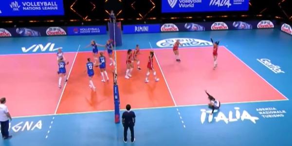 Женская сборная России по волейболу одержала три победы в Лиге наций