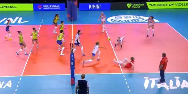 Женская сборная России по волейболу имеет 3 победы и 3 поражения в Лиге наций