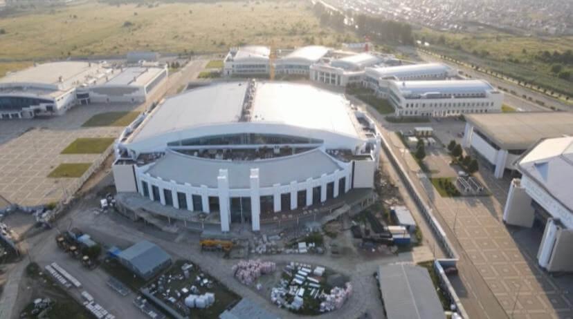 Основные работы во Дворце водных видов спорта в Краснодаре завершат к концу года