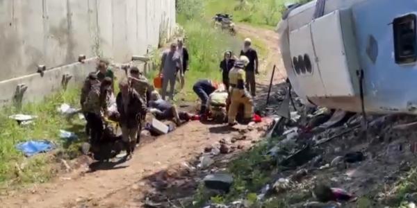 На место ДТП с рейсовым автобусом на Кубани направили вертолет санавиации