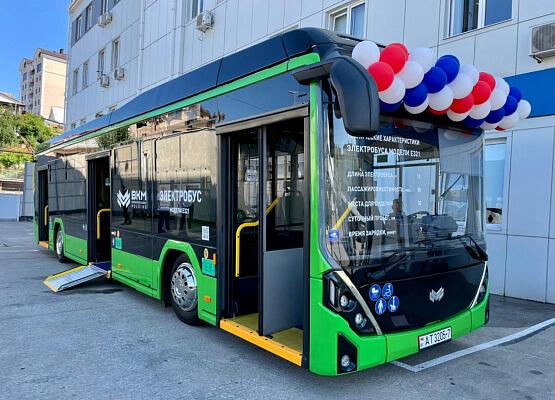 На дорогах Сочи начали тестировать новый электробус