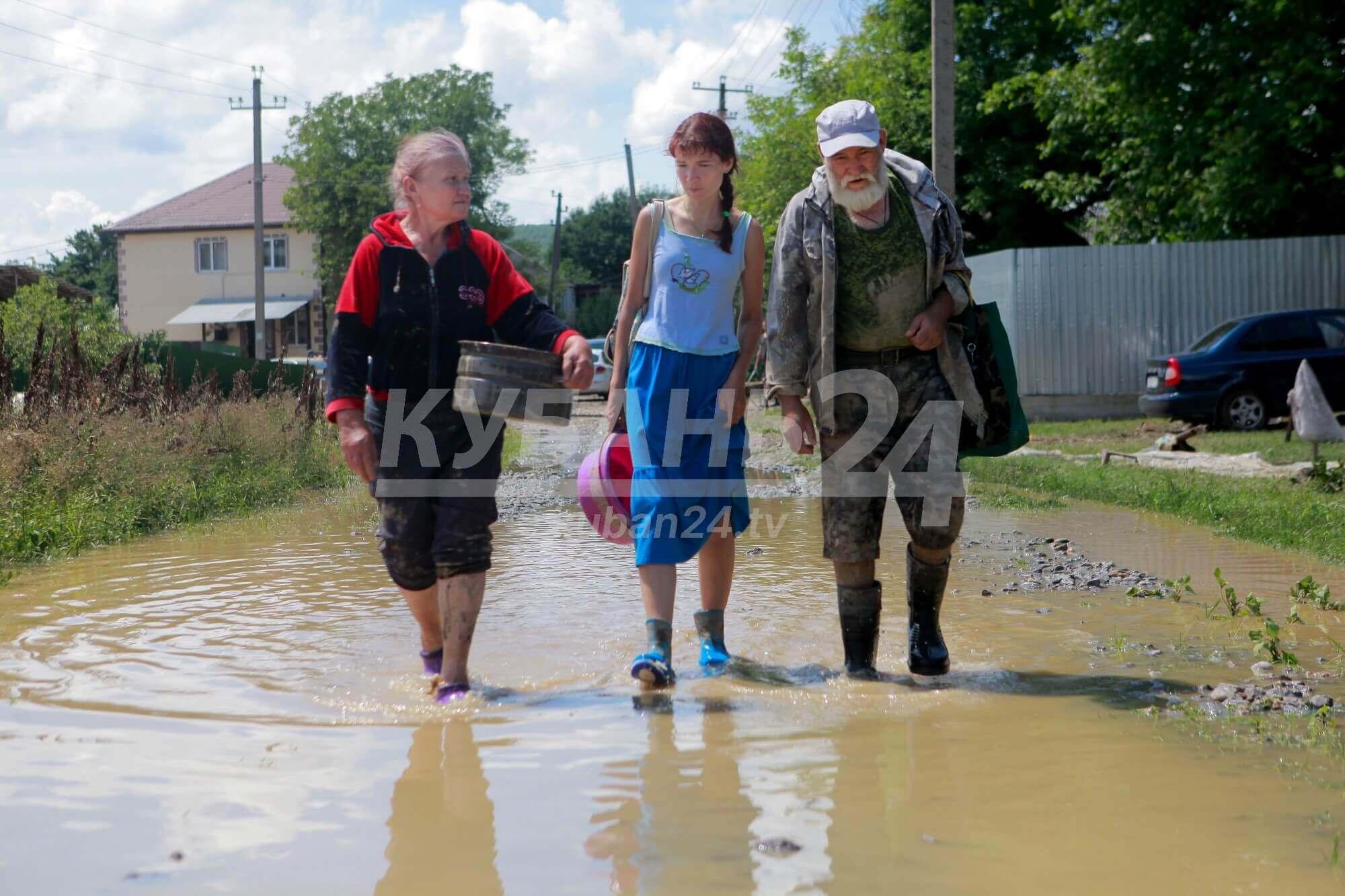 Более 3,5 тыс. жителей Кубани получили компенсации после подтоплений
