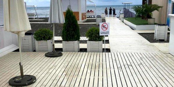 Мэрия Сочи: все пляжи курорта остаются закрытыми для купания