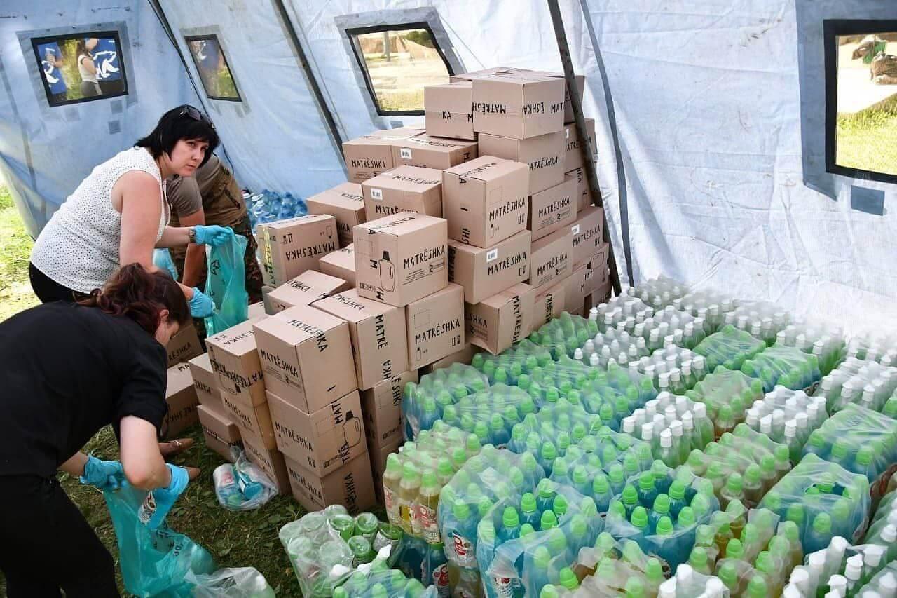 В Горячий Ключ привезли еще 2 тонны гуманитарной помощи