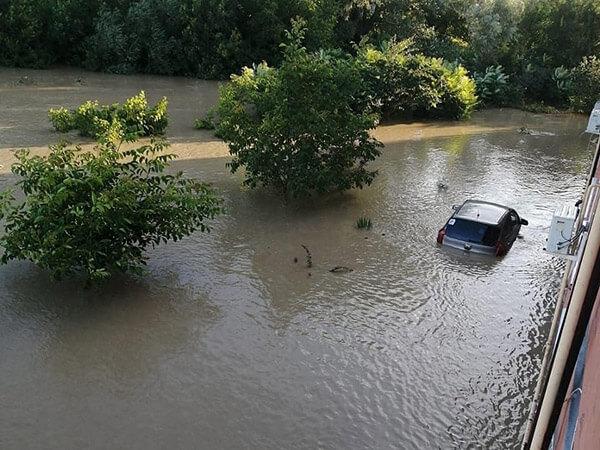 В Горячем Ключе уровень воды в Псекупсе поднялся до 5,9 м, сейчас вода сходит