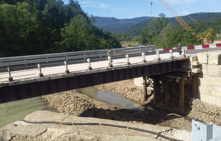 В Туапсинском районе восстановили два моста, пострадавших во время стихии
