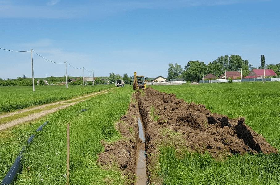 В двух населенных пунктах Белореченского района построили новые газопроводы