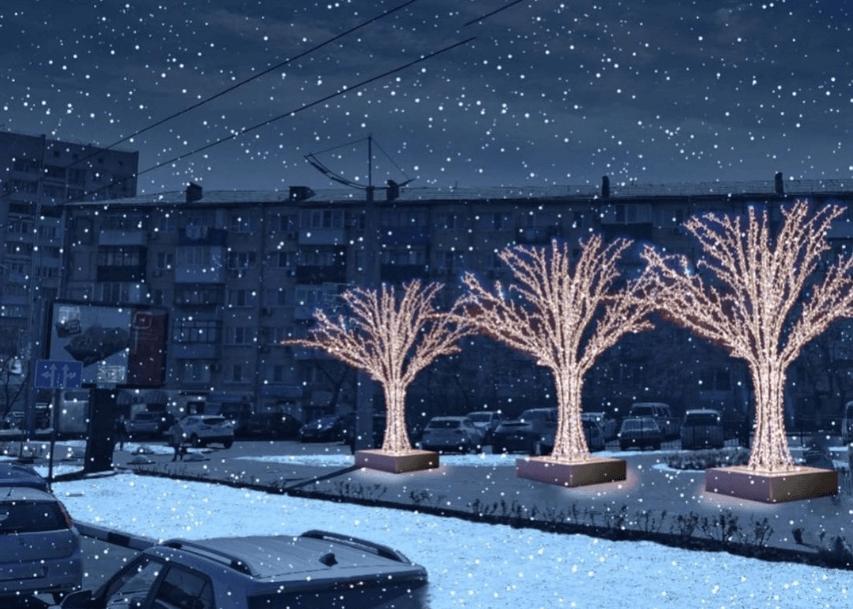 В Новороссийске к зиме установят новые светящиеся фигуры