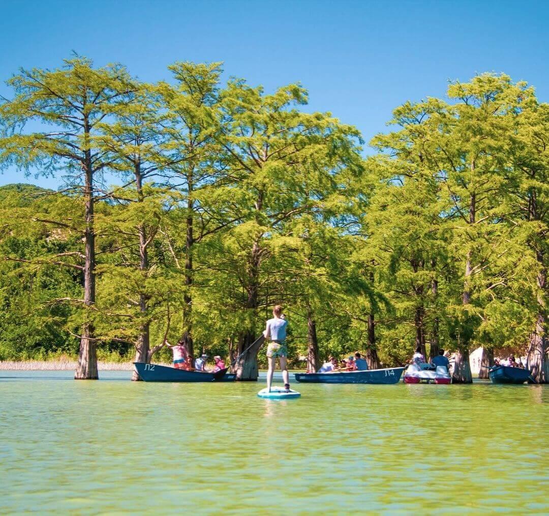 В минприроды предостерегли туристов от прыжков с лодок возле кипарисов в Сукко