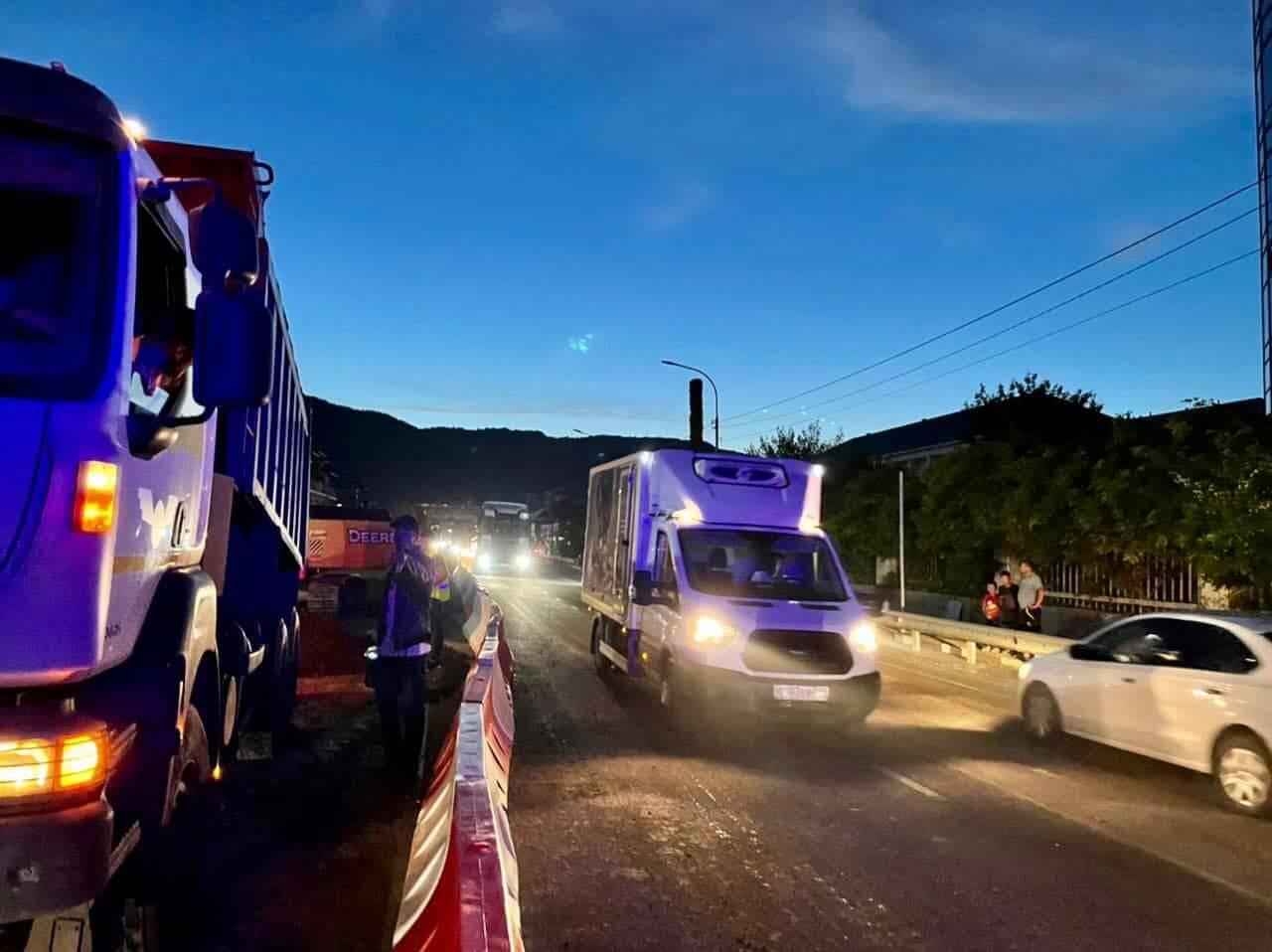На трассе А-147 в селе Лермонтово снят реверс, открыто двухполосное движение