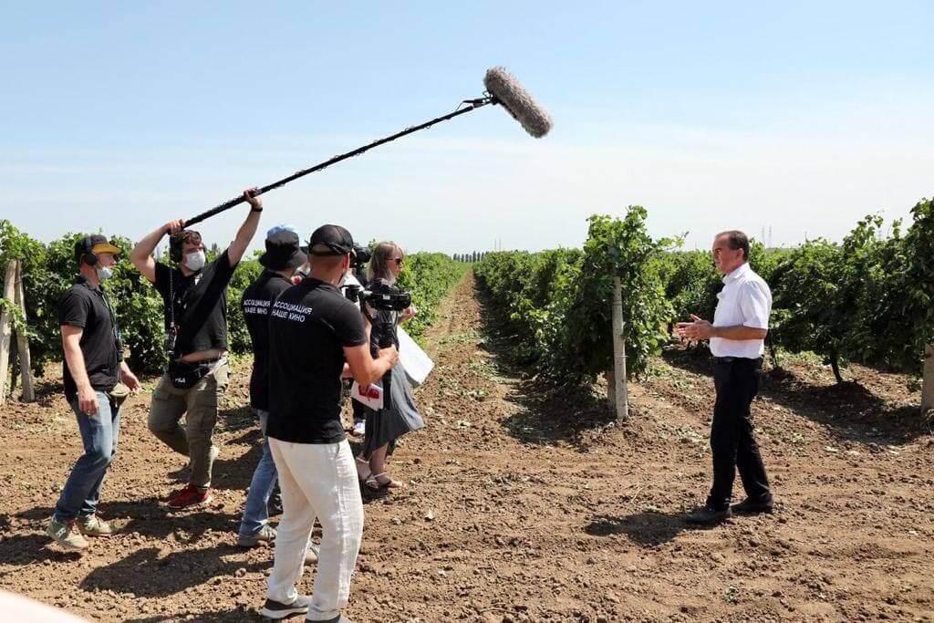 Губернатор Кубани принял участие в съемках документального фильма о виноделии