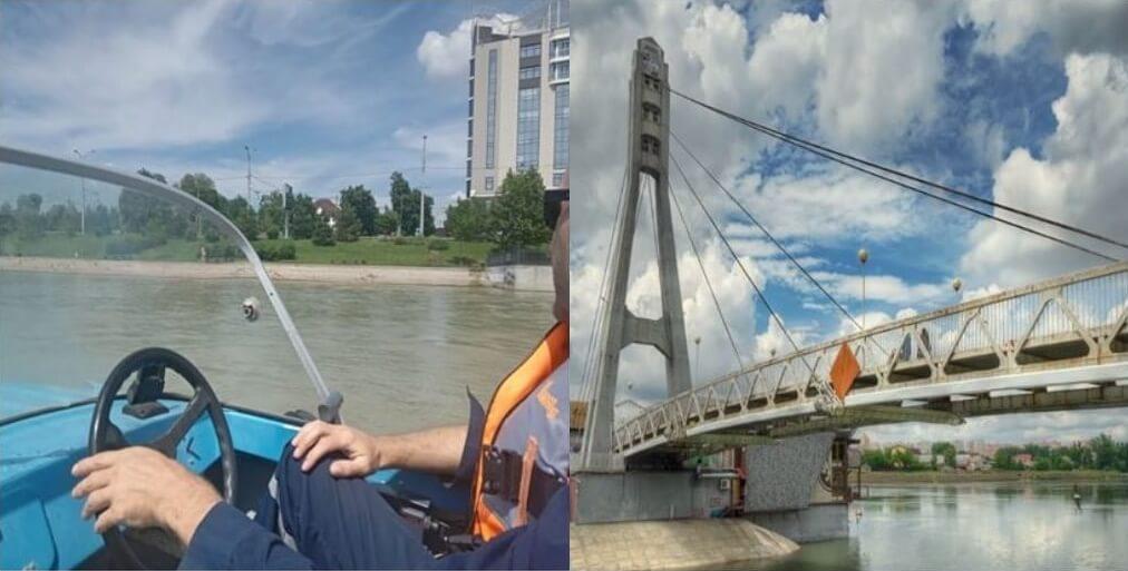 В Краснодаре спасли пьяного парня, тонувшего в реке у моста Поцелуев