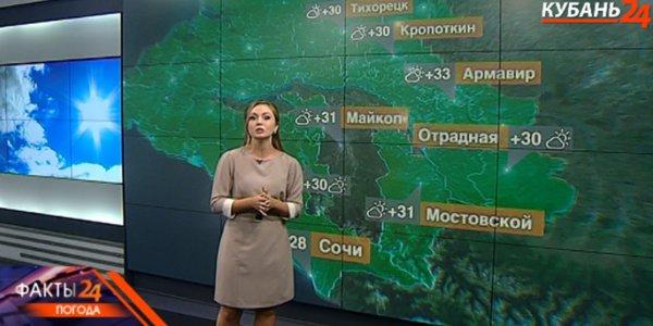 В Краснодарском крае 27 августа днем ожидается до +34 °С