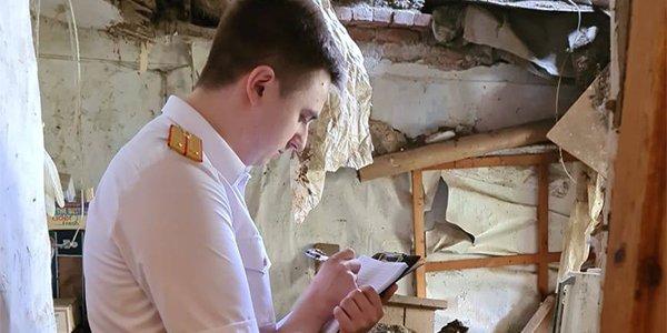 В Краснодаре в двухэтажном доме обрушилось перекрытие в квартире