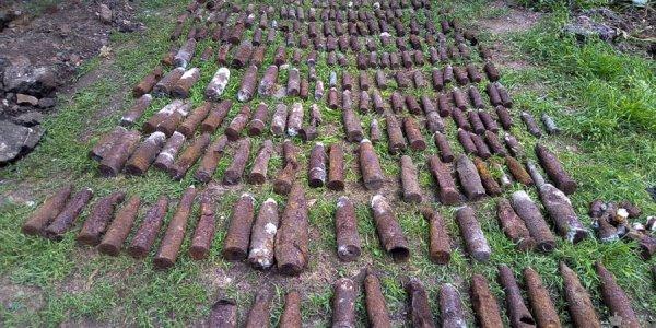 На Кубани возле частного дома нашли 304 боеприпаса времен войны