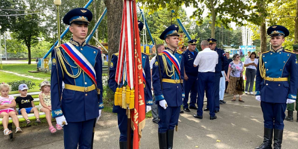 Кубани передали боевое знамя времен Великой Отечественной войны
