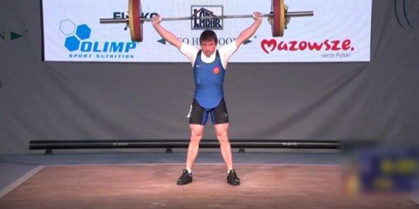 Кубанец Андрей Щербак победил на первенстве Европы по тяжелой атлетике