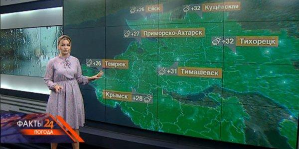 В Краснодарском крае 19 августа местами ожидается ливень с градом