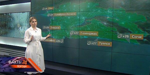 В Краснодарском крае 18 августа днем ожидается до +33 °С
