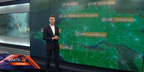 В Краснодарском крае 20 августа прогнозируют ливни с грозами