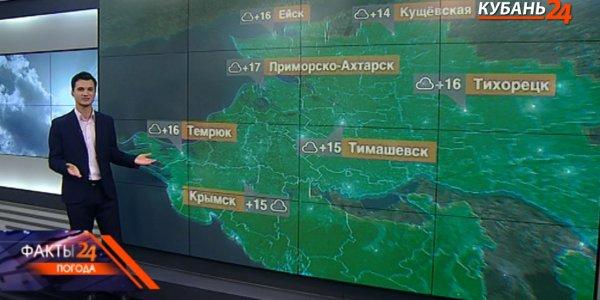 На Кубани 22 сентября прогнозируют дожди с градом и усиление ветра до 20 м/с