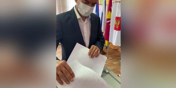Губернатор Кубани Вениамин Кондратьев проголосовал на выборах