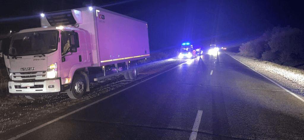 На Кубани грузовик в темноте насмерть сбил мужчину, который шел по дороге
