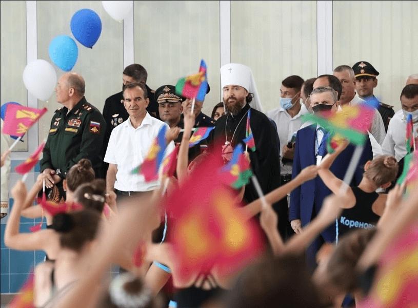 В Кореновске торжественно открыли плавательный бассейн на шесть дорожек
