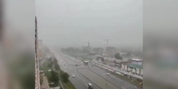 На Кубани прошли мощные ливни с градом и шквалистым ветром