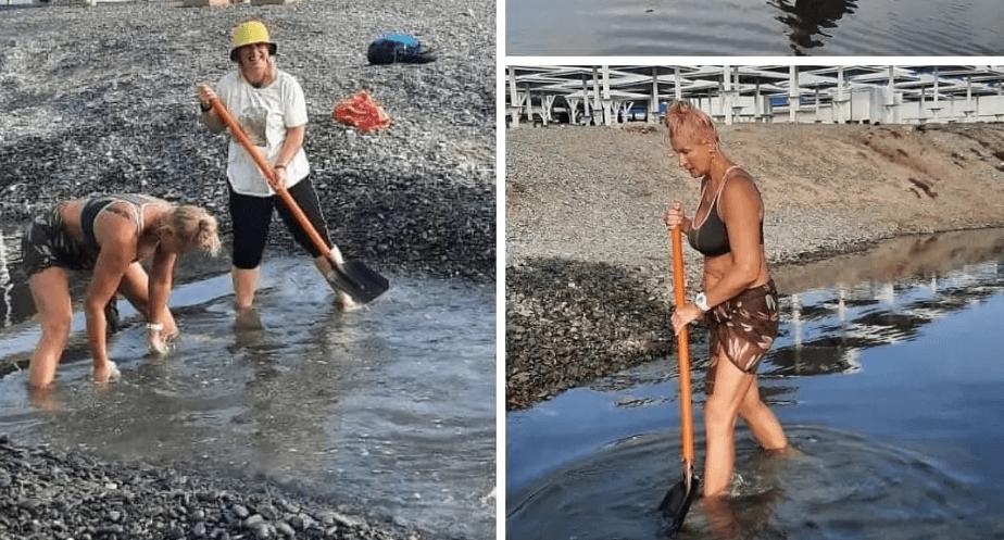В Новороссийске снова появилась «народная» лопата для спасения Суджукской лагуны