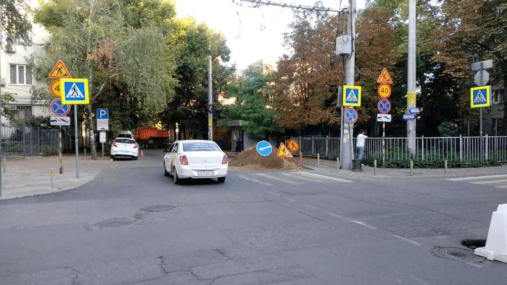 В центре Краснодара по нацпроекту начали ремонтировать улицу Мира