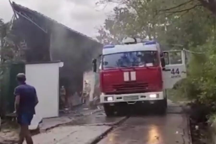 В Анапе из-за пожара в кафе эвакуировали пять человек