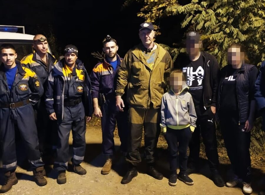 В Северском районе во время похода за грибами заблудилась семья с ребенком