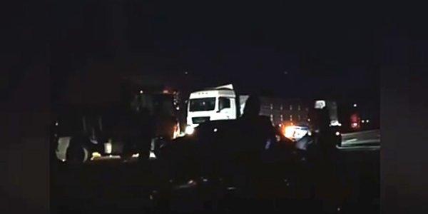 В Северском районе из-за серьезной аварии образовалась большая пробка